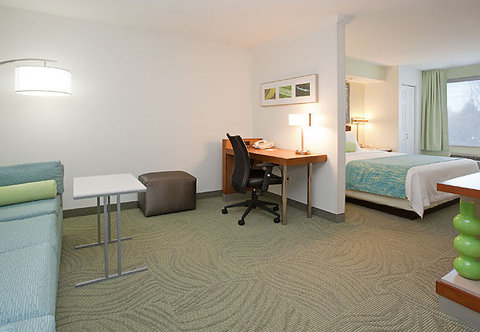 SpringHill Suites by Marriott Portland Airport - King Studio Suite Living Area
