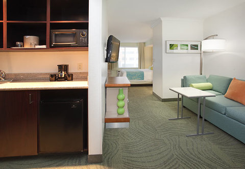 SpringHill Suites by Marriott Portland Airport - King Spa Studio Living Area
