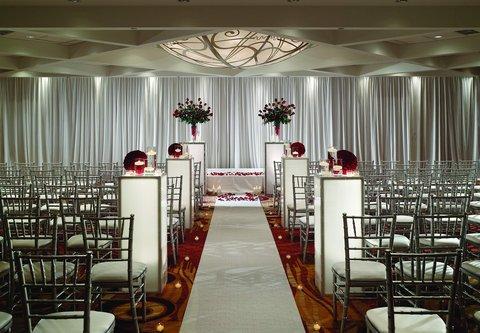 Chicago Marriott O'Hare Hotel - Chicago Ballroom-Wedding Ceremony