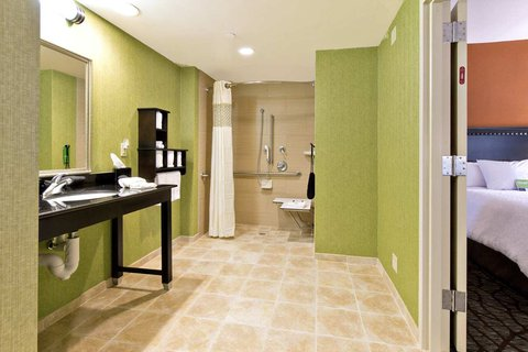 Hampton Inn Asheville-Tunnel Road - Accessible Bathroom with Roll-In Shower