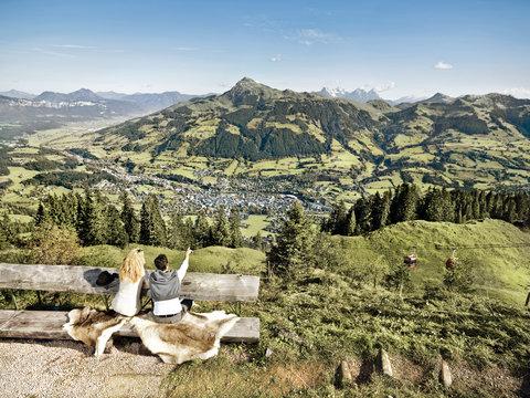 Kempinski Hotel Das Tirol - Hahnenkamm Aussicht