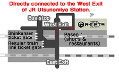 Hotel R Mets Utsunomiya - Map
