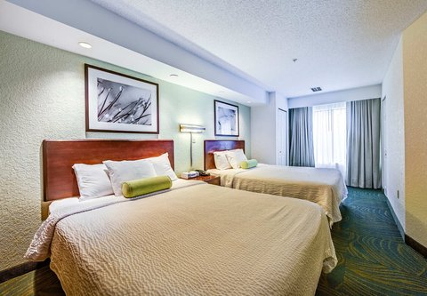 SpringHill Suites Dayton South/Miamisburg - Queen Queen Suite Sleeping Area