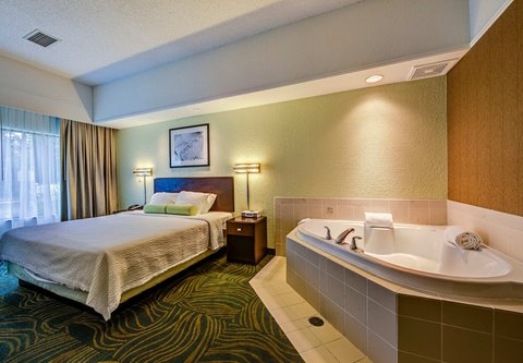 SpringHill Suites Dayton South/Miamisburg - King Spa Suite Sleeping Area