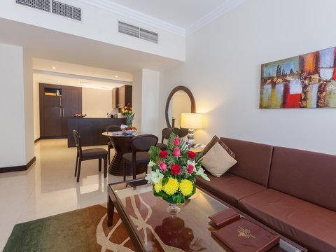 فلورا بارك للشقق الفندقية - BHKLivingroom