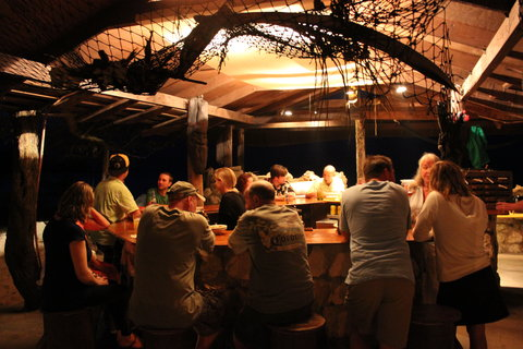 Small Hope Bay Lodge, Andros Island - Enjoying the Open Bar