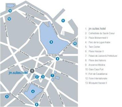 JM Suites Hotel - Map