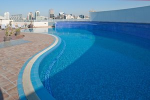 Enjoy Dubai's sun at our rooftop swimming pool