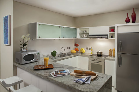 أسكوت بارك بلايس دبي - One Bedroom Premier Duplex  Fully Equipped Kitchen