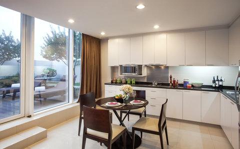 薩默塞特和平公寓式酒店 - Kitchen of 1 Bedroom Premier