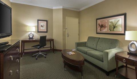 Hilton Charlotte Executive Park - King Suite Living