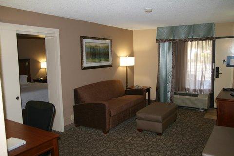 Hampton Inn Gainesville FL - Accessible King Suite Living