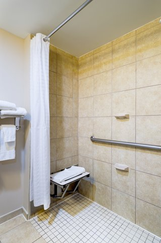 Candlewood Suites NEW YORK CITY- TIMES SQUARE - ADA Bathroom with Roll-in Shower