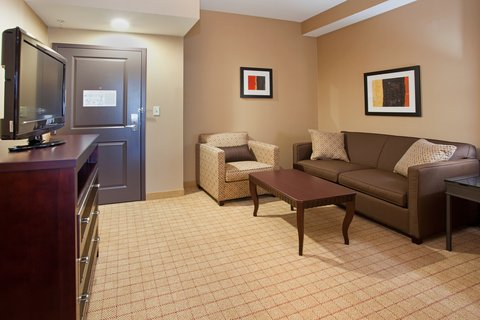 Holiday Inn Hotel & Suites DENVER AIRPORT - Studio Suite Living room with pull out couch- near DIA
