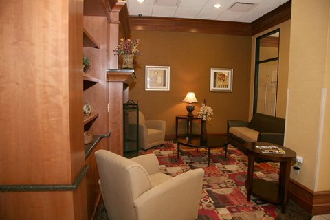 Holiday Inn Express & Suites DETROIT DOWNTOWN - Main Lobby Seating near Front Entrance