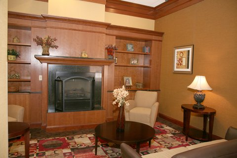 Holiday Inn Express & Suites DETROIT DOWNTOWN - Fireplace and Seating Area in Main Lobby