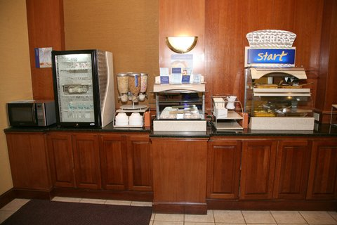 Holiday Inn Express & Suites DETROIT DOWNTOWN - Up Close View of Breakfast Bar