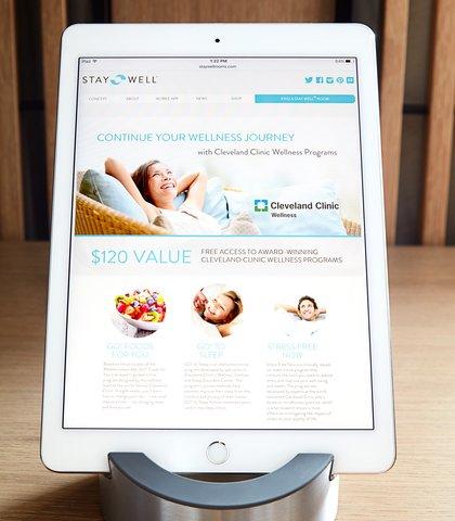 Marriott Charlotte City Center Hotel - Stay Well- iPad