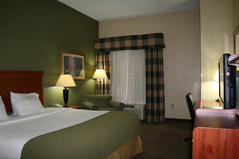 Holiday Inn Express & Suites GREENWOOD - King Bedroom