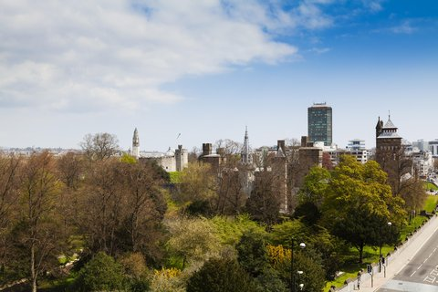 Holiday Inn CARDIFF CITY CENTRE - View from the hotel of Bute Park and Cardiff Castle