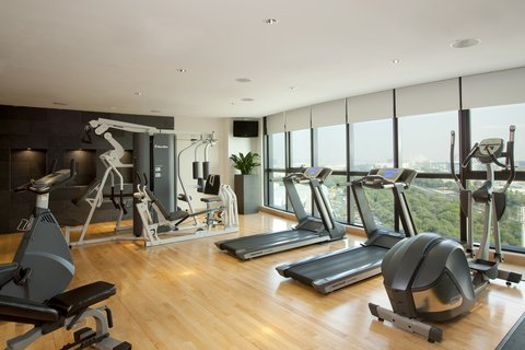 Holiday Inn ABU DHABI - Mini Gym on top floor  great views whilst exercising