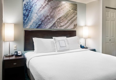 SpringHill Suites Bakersfield - King Suite Sleeping Area