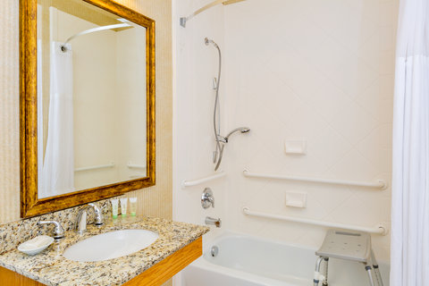 Staybridge Suites BROWNSVILLE - ADA Handicapped accessible Guest Bath with transfer tub