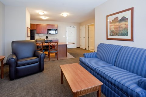 Candlewood Suites CHEYENNE - Our comfortable 1 bedroom suite features a separate living area