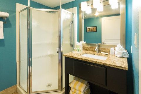 Holiday Inn Resort DAYTONA BEACH OCEANFRONT - Standard Guest Bathroom Ocean View Room Vanity and Shower