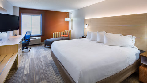 Holiday Inn Express CEDAR RAPIDS (COLLINS RD) - Deluxe King Bedded Room with microwave and fridge