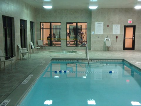 Holiday Inn Express & Suites BORGER - Borger Swimming Pool at Night