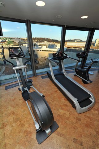 Holiday Inn BRNO - MiniGym on the top floor with panoramic view