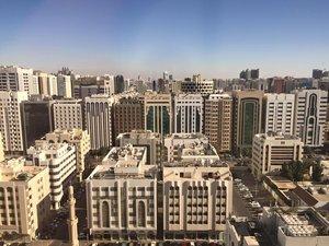 Beautiful view towards downtown Abu Dhabi