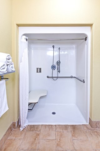 Holiday Inn Express & Suites AMARILLO EAST - ADA Handicapped accessible Guest Bathroom with roll-in shower