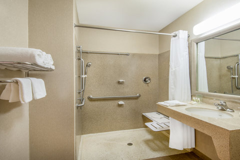 Holiday Inn Hotel & Suites GOODYEAR - WEST PHOENIX AREA - ADA Handicapped Guest Bathroom with roll-in shower