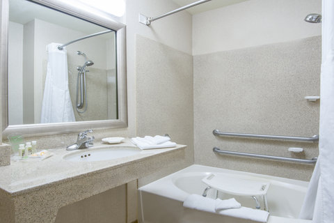 Holiday Inn Hotel & Suites GOODYEAR - WEST PHOENIX AREA - ADA Handicapped accessible Guest Bathroom with mobility tub