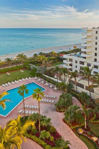 Holiday Inn Miami Beach - Oceanfront - Holiday Inn Miami Beach Oceanfron Sundown view of pool and beach