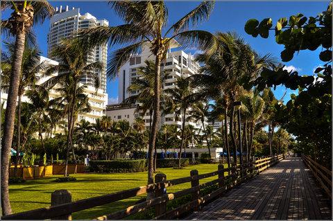 Holiday Inn Miami Beach - Oceanfront - Holiday Inn Miami Beach Oceanfront garden and boardwalk