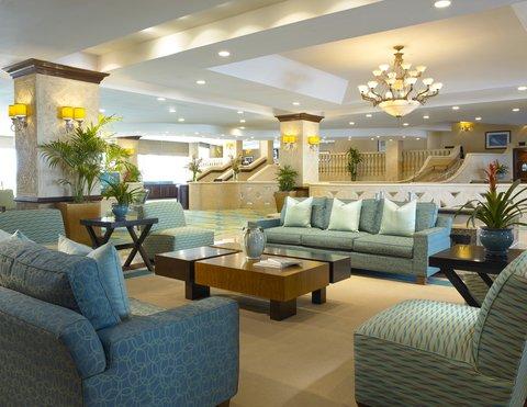 Holiday Inn Miami Beach - Oceanfront - Holiday Inn Miami Beach Oceanfront lobby in morning