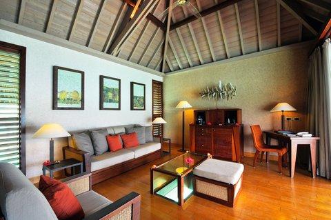 إنتركونتيننتال بورا بورا آند ثالاسو سبا - Overwater Villa Living Room