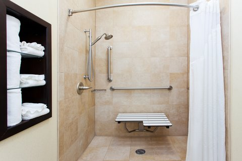 Holiday Inn Hotel & Suites COLUMBIA N I 77 TWO NOTCH RD - ADA Handicapped accessible Guest Bathroom with roll-in shower