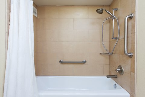 Holiday Inn Hotel & Suites COLUMBIA N I 77 TWO NOTCH RD - ADA Handicapped accessible Guest Bathroom with mobility tub