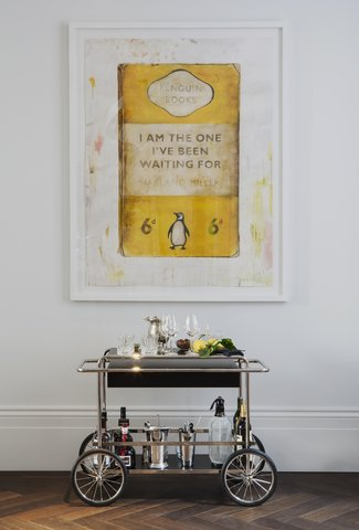 The Laslett - Harland Miller Drinks Trolley