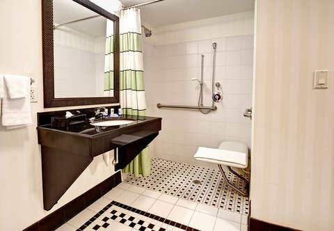 Fairfield Inn & Suites Naples - Accessible Guest Bathroom - Shower