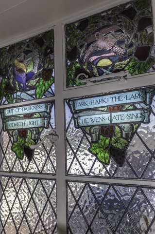 Lyme Bay House - Extracts from Shakespeare on Stained Glass Windows