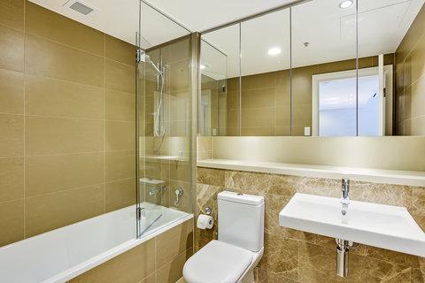 Astra Apartments Rhodes - Rhodes Bedroom Serviced Apartment Bathroom High Res