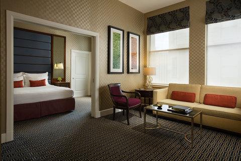 Monaco Baltimore A Kimpton Hotel - Suite Guestroom Curtains Up Web