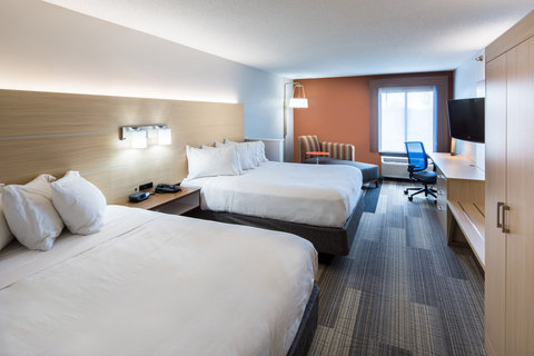 Holiday Inn Express CEDAR RAPIDS (COLLINS RD) - Executive Two Queen Bedded Room with microwave and fridge