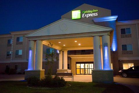 Holiday Inn Express DEVILS LAKE - Nighttime Exterior