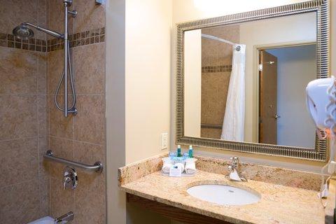 Holiday Inn Express DEVILS LAKE - Handicap Accessible Bathroom